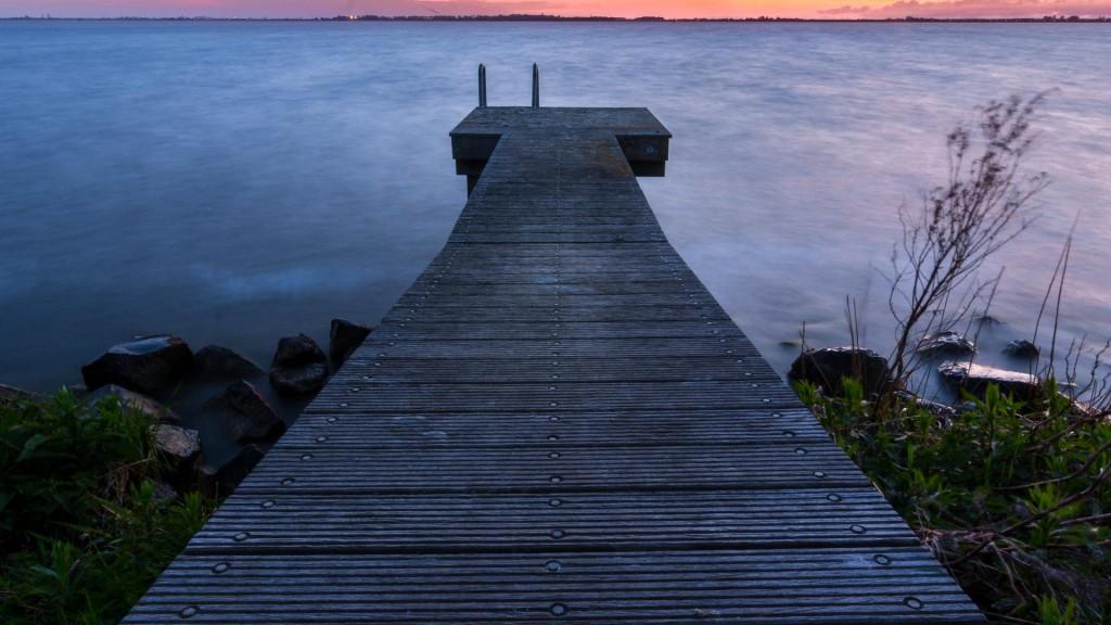 Lonely Bridge on Marken Island in Holland